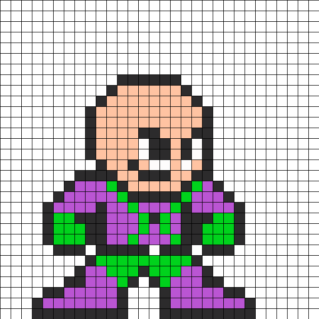 Superman Villian Lex Luthor Perler Bead Pattern Perler Bead
