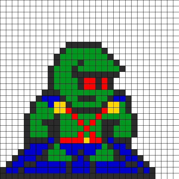 Martian Manhunter Perler Bead Pattern