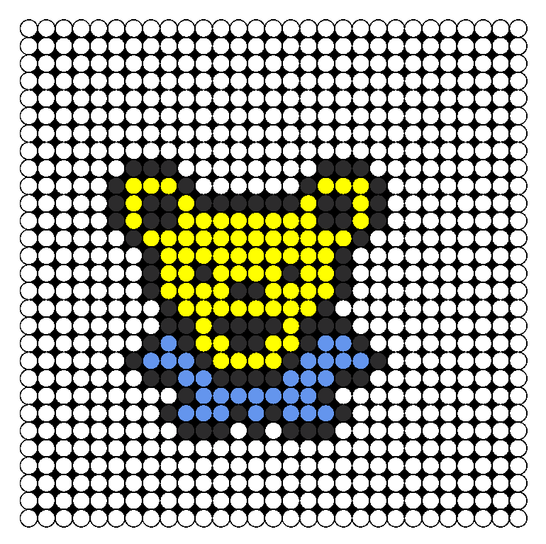 Greatful Dead Bear Perler Bead Pattern / Bead Sprite