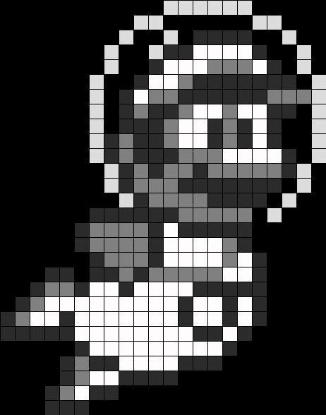 Mario In Space Perler Bead Pattern / Bead Sprite