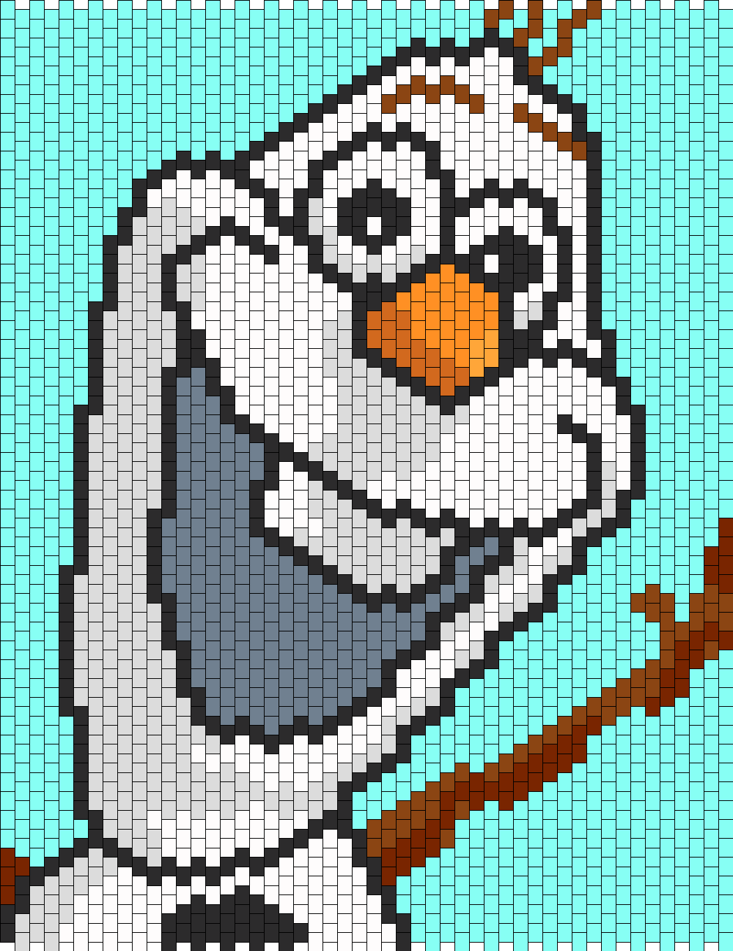 Olaf From Frozen Bead Pattern