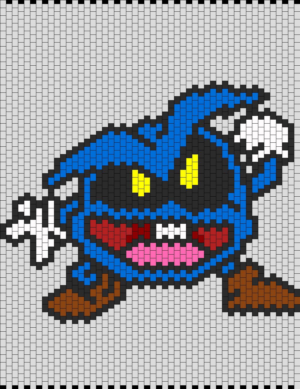 Dr Mario Virus Chill Bead Pattern