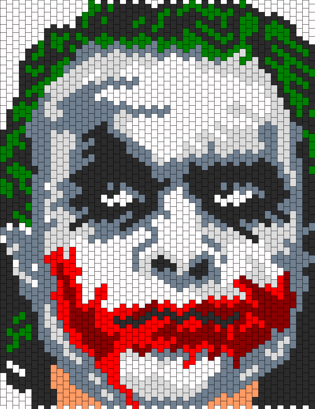 Heath Ledger As The Joker Bead Pattern