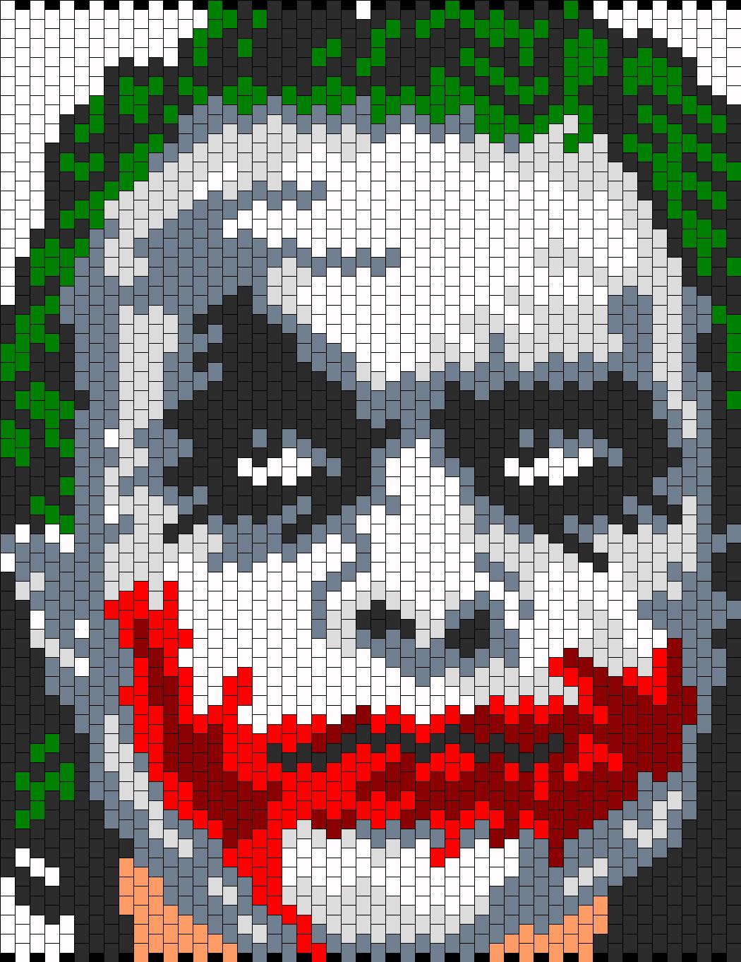 Heath Ledger As The Joker Bead Pattern | Peyote Bead Patterns ...