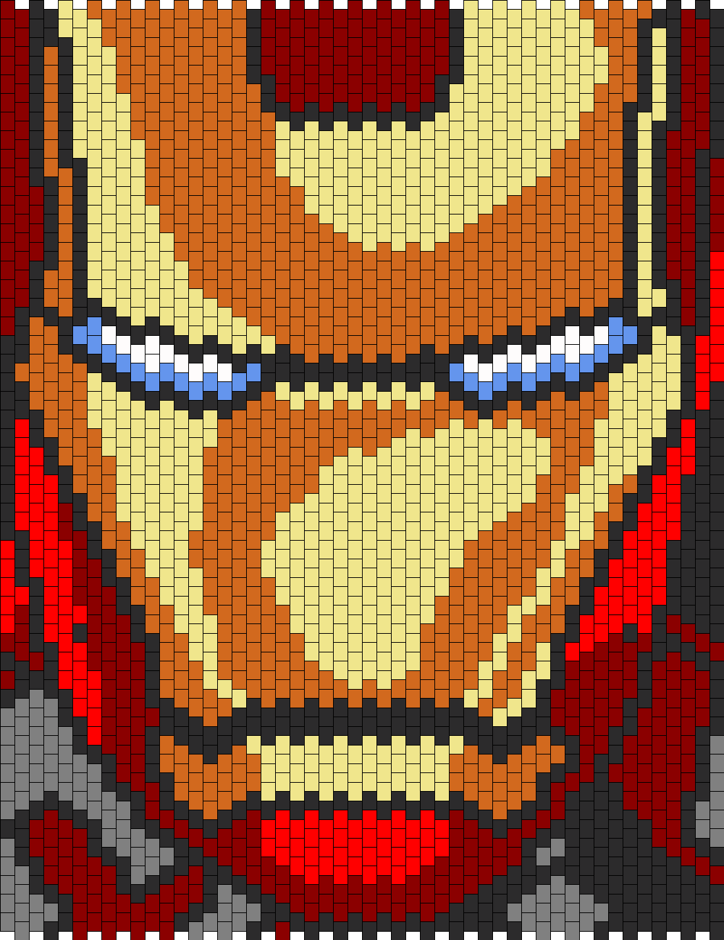 Iron Man Pattern Iron Man Bead Pattern