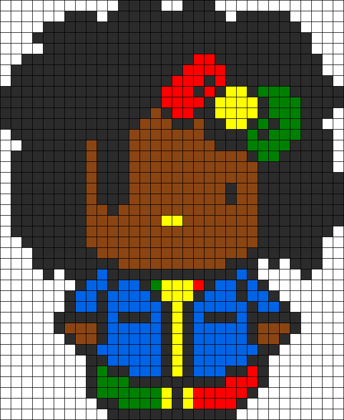 Rasta Hello Kitty Perler