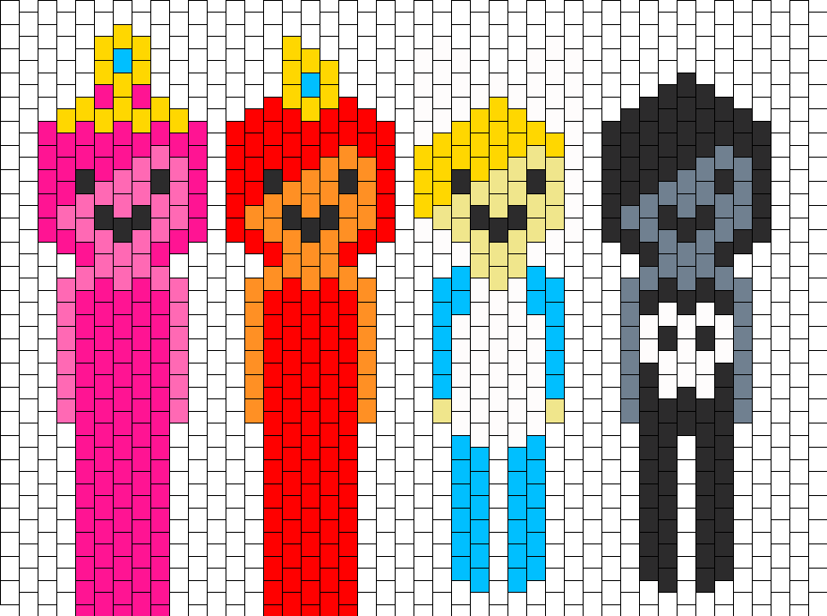 Adventure Time Characters Bead Pattern