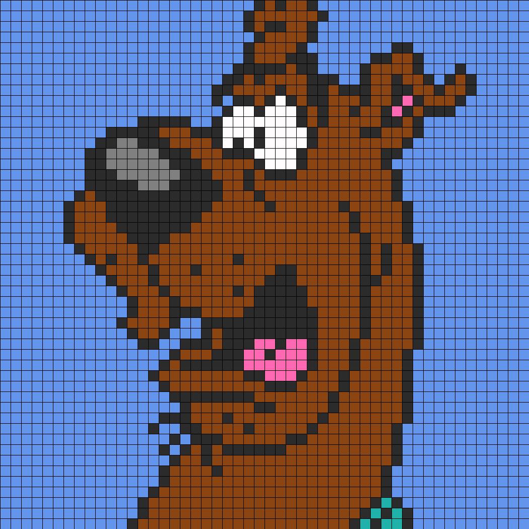Scared Scooby Doo Perler