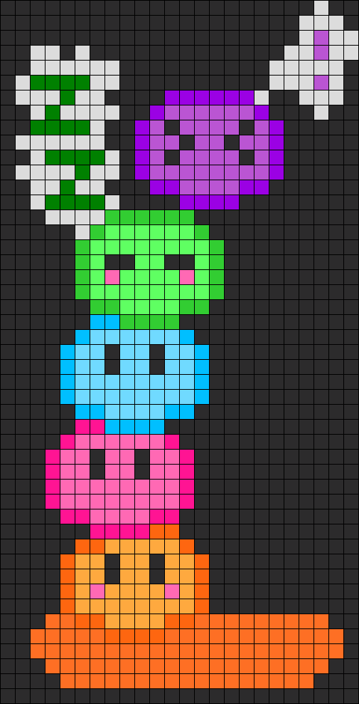 Dango Family  Perler Bead Pattern / Bead Sprite