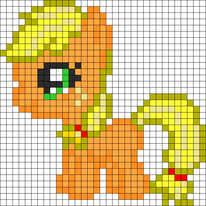 Filly Apple Jack Perler Bead Pattern