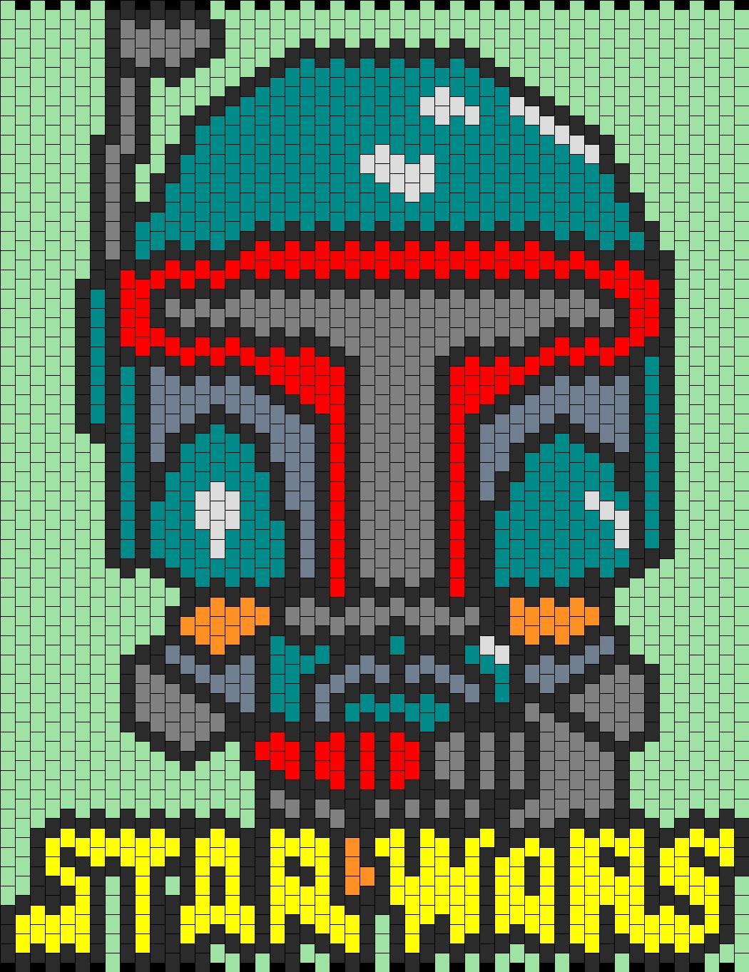 Boba Fett Star Wars Bead Pattern