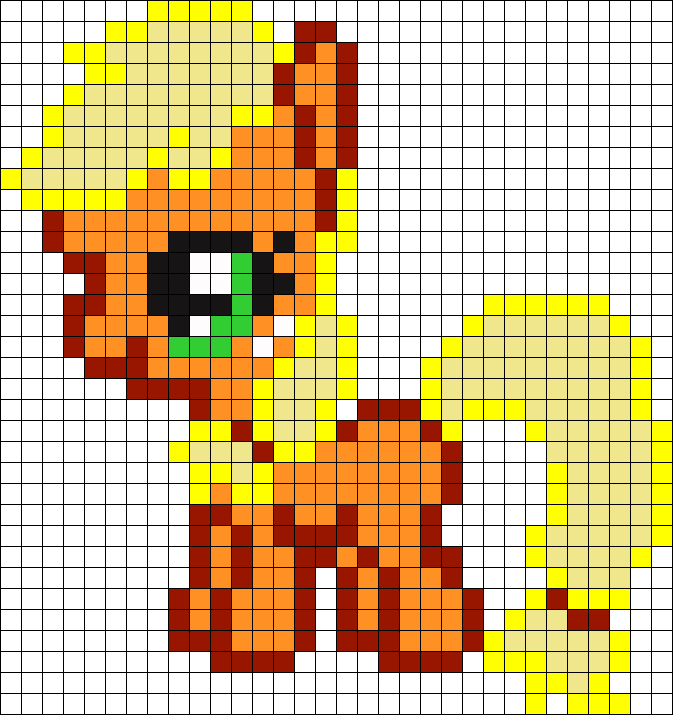 Filly Applejack My Little Pony Perler Bead Pattern / Bead Sprite