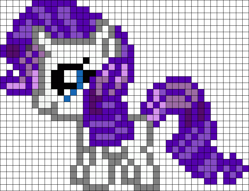Filly Rarity My Little Pony Perler Bead Pattern Bead Sprites