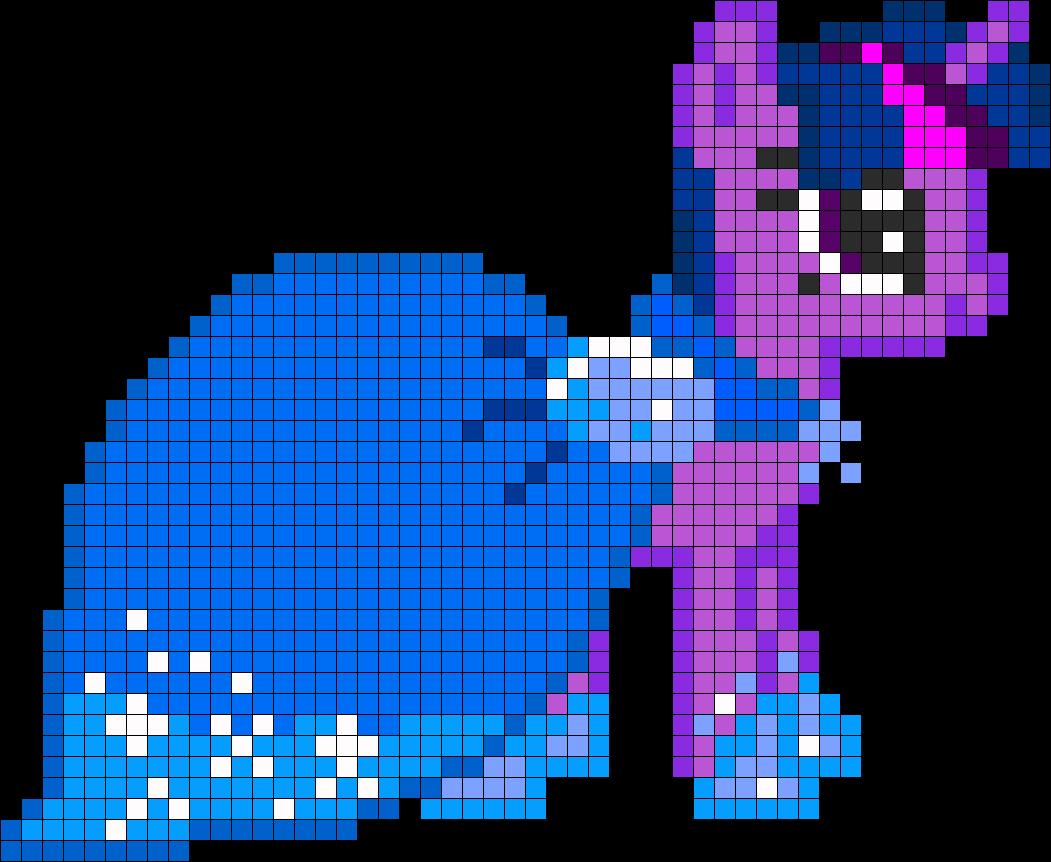 MLP Gala Twilight Sparkle Perler Bead Pattern / Bead Sprite