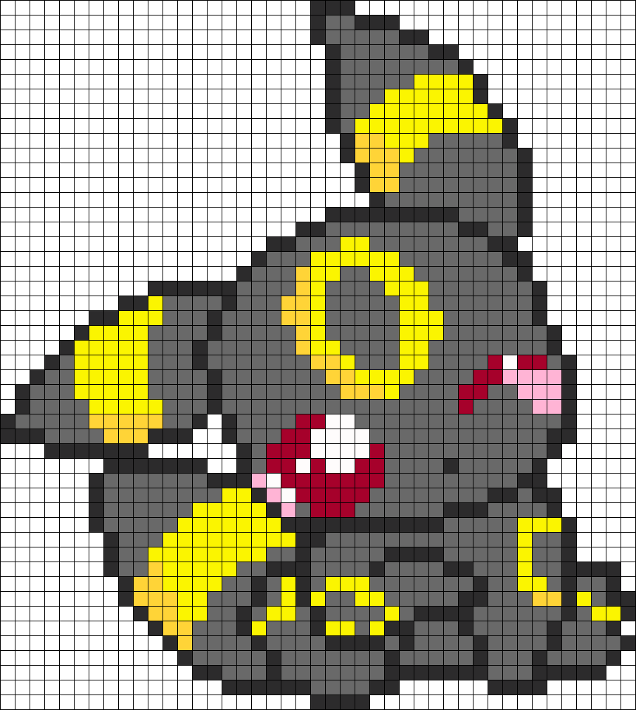 Pokemon Adorable Umbreon Perler Bead Pattern / Bead Sprite