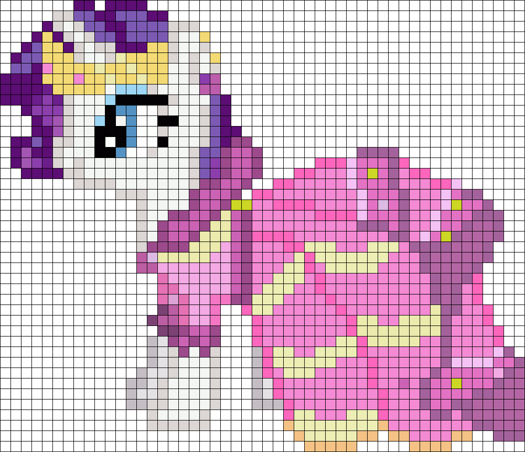 Gala Rarity My Little Pony Perler Bead Pattern Bead Sprites