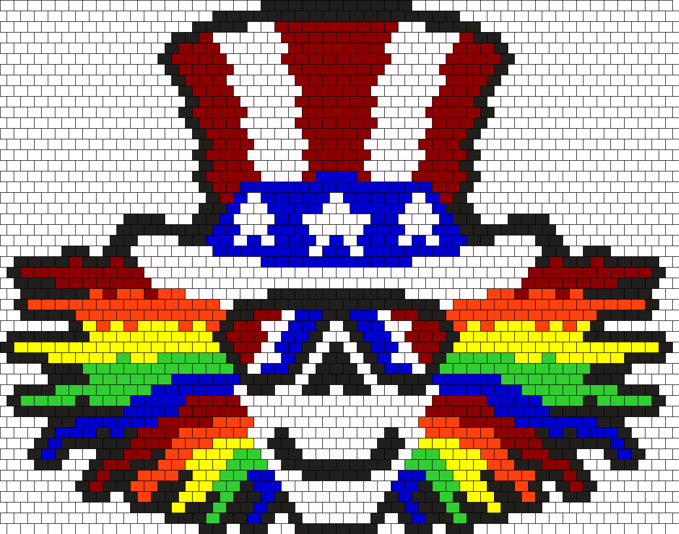 Uncle Sam Grateful Dead Bead Pattern
