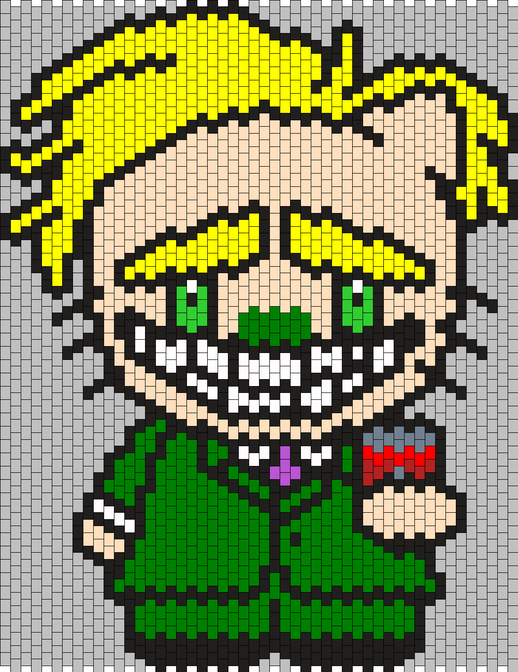 Freaky Fred Hello Kitty From Courage The Cowardly Dog Bead Pattern
