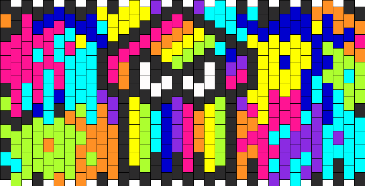 Splatoon Rainbow Squid Bead Pattern