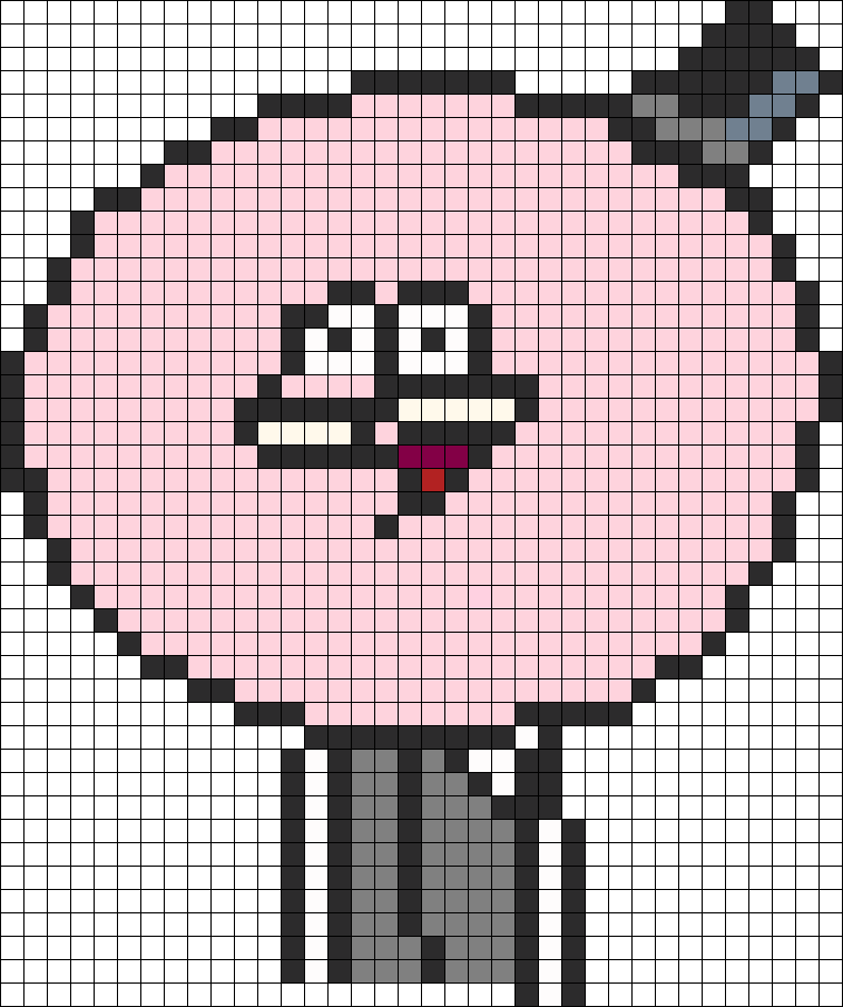 Regular Show Pops Perler Bead Pattern | Bead Sprites ...  Minecraft
