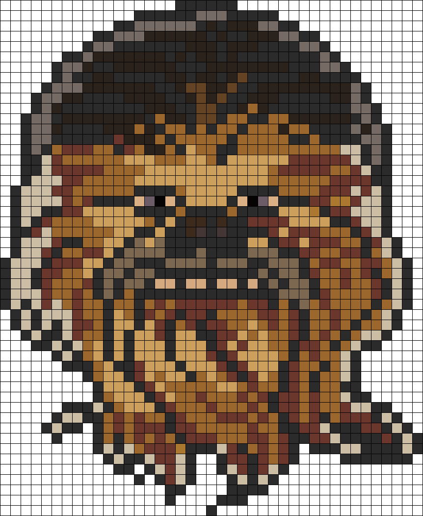 star wars chewbacca perler bead pattern