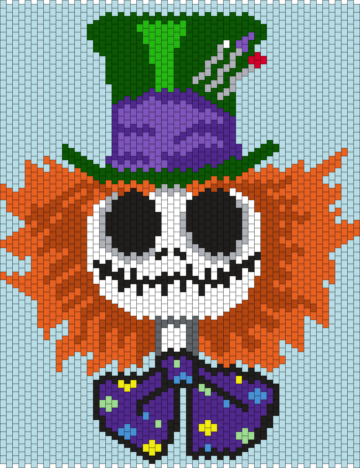 Mad Hatter Jack Skellington  (Multi) Bead Pattern