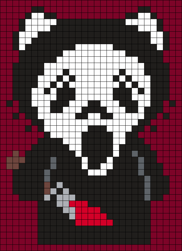Ghostface (from Scream) Hello Kitty (Sq)
