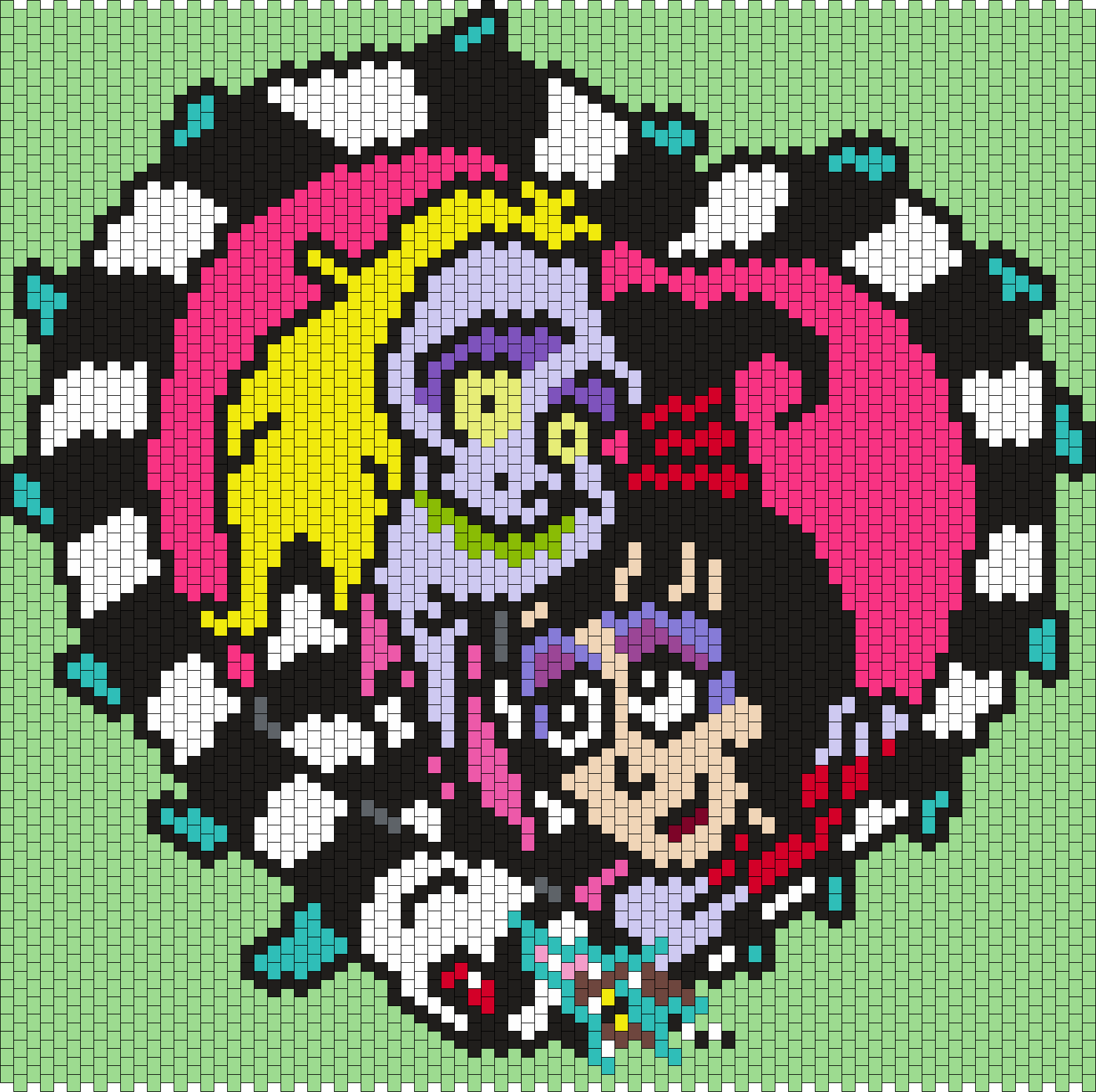 Beetlejuice And Lydia Bead Pattern