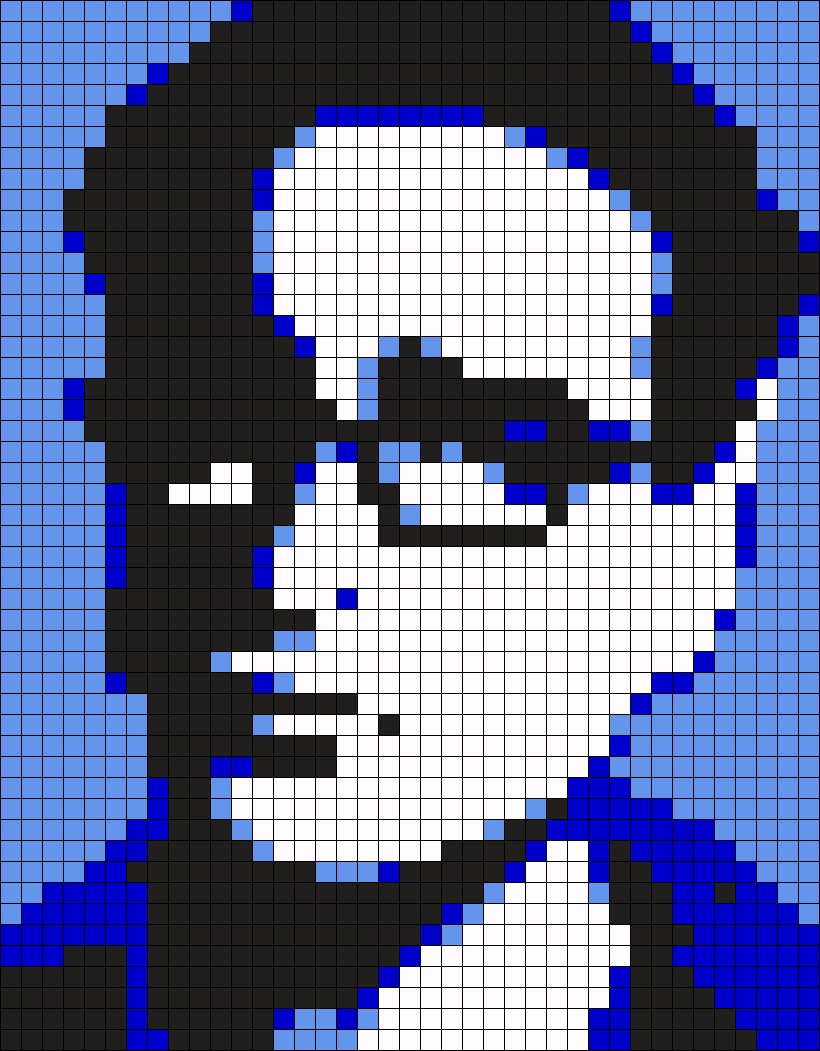 TBBT Leonard Hofstadter Perler Bead Pattern / Bead Sprite