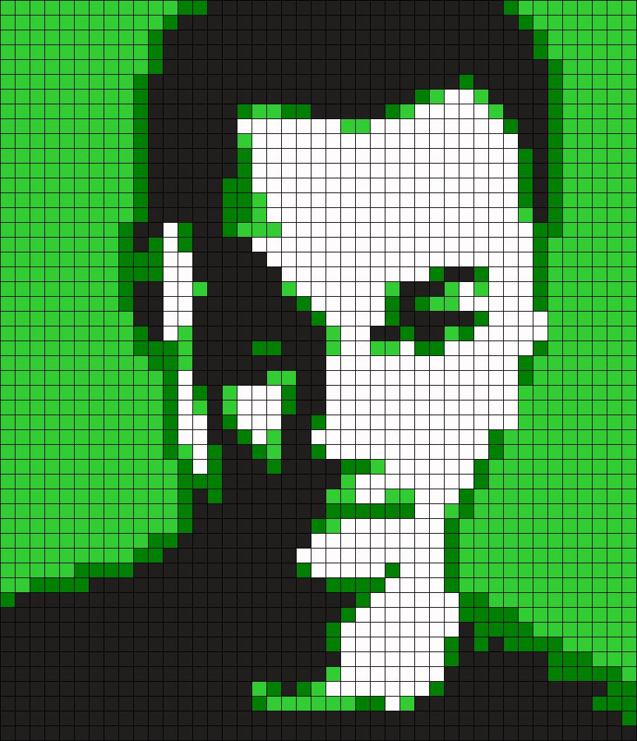 TBBT Sheldon Cooper Perler Bead Pattern / Bead Sprite
