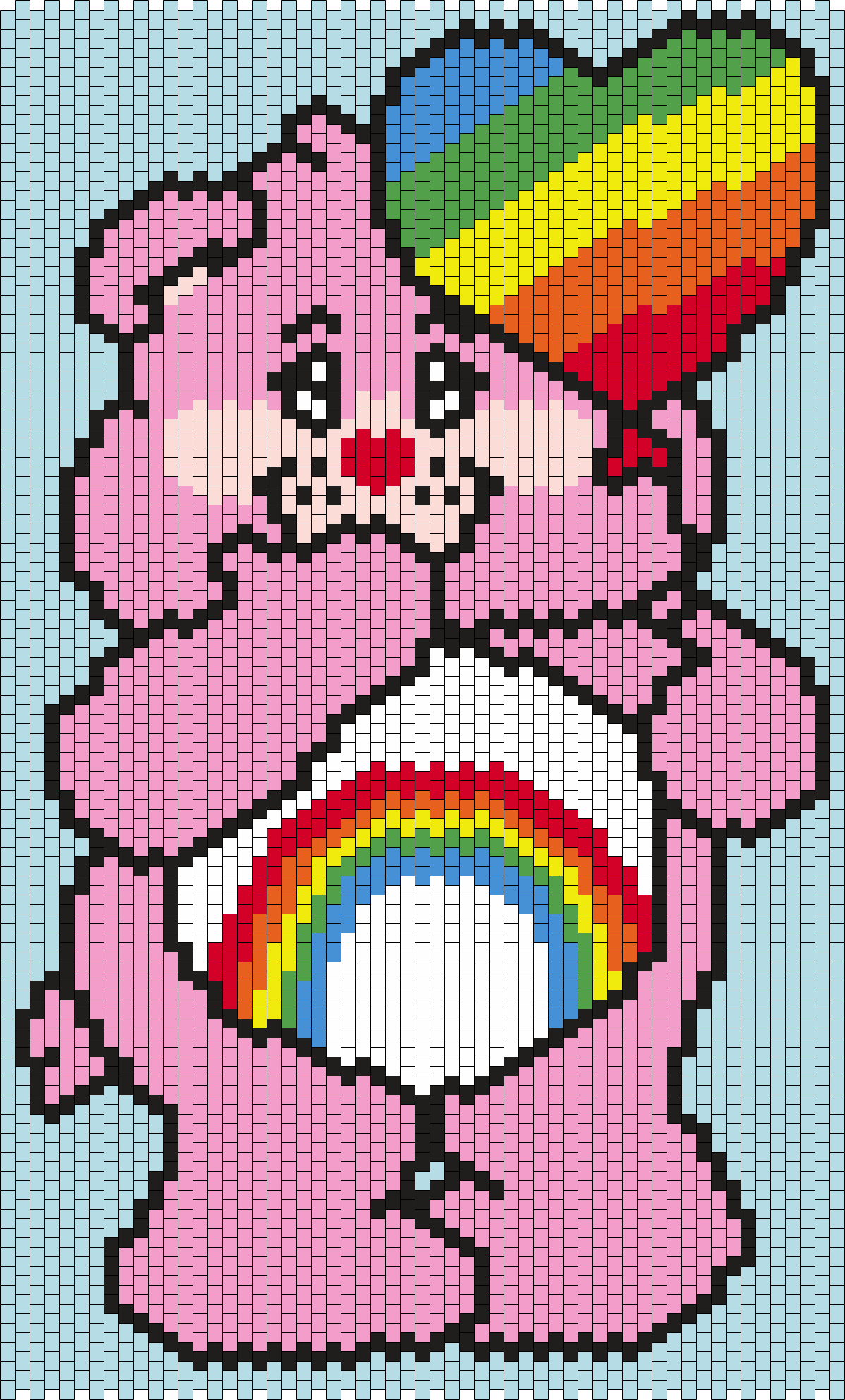 Cheer Bear From The Care Bears Bead Pattern