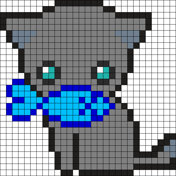 Cute Kitty Perler Bead Pattern / Bead Sprite