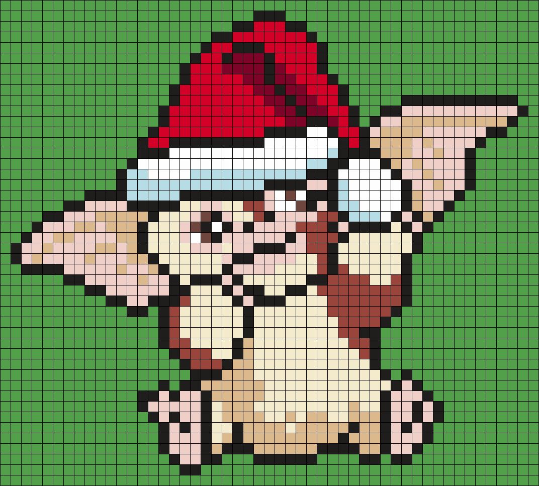 Gizmo In A Santa Hat (from Gremlins) (sq)