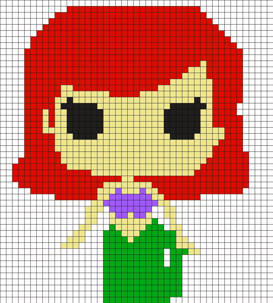 Cute Ariel Perler Bead Pattern / Bead Sprite