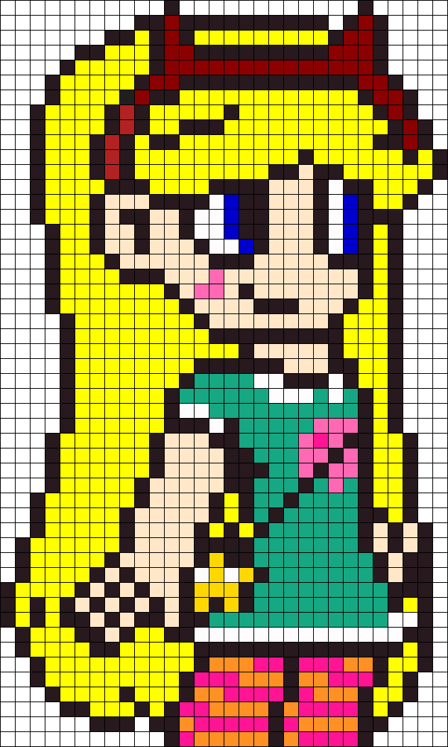 Princess Star Butterfly Perler Bead Pattern / Bead Sprite