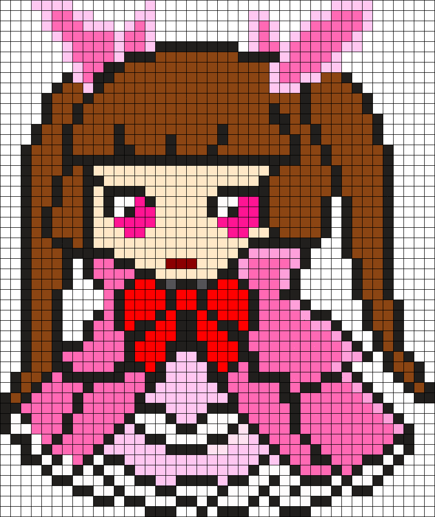 Rachle Alt Outfit Perler Bead Pattern / Bead Sprite