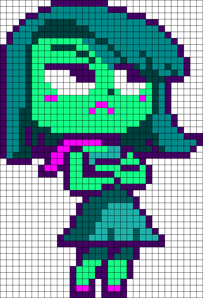Disgust From Inside Out Perler Bead Pattern / Bead Sprite