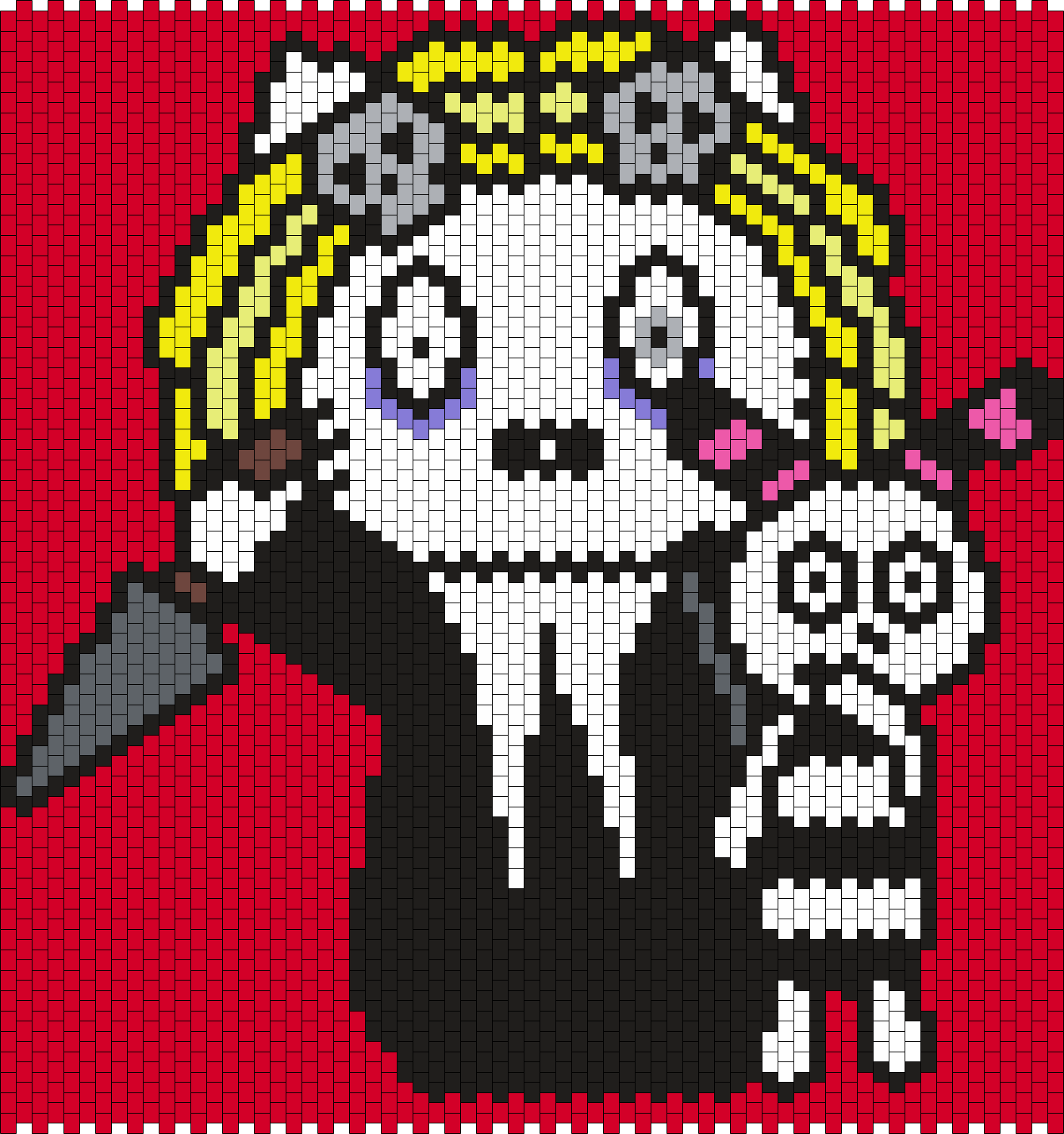 Lenore Hello Kitty Bead Pattern