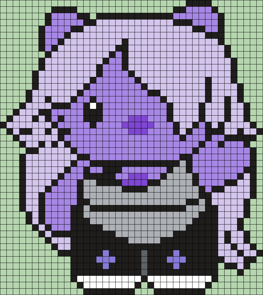 Amethyst From Steven Universe Hello Kitty Perler Bead Pattern / Bead Sprite