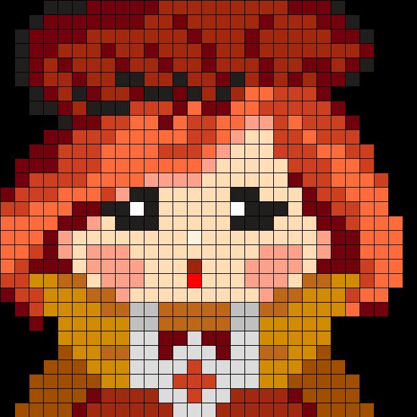 Lala Orange Perler Bead Pattern / Bead Sprite