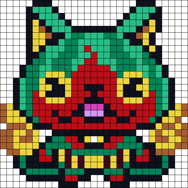 Yokai Watermelnyan Perler Bead Pattern / Bead Sprite