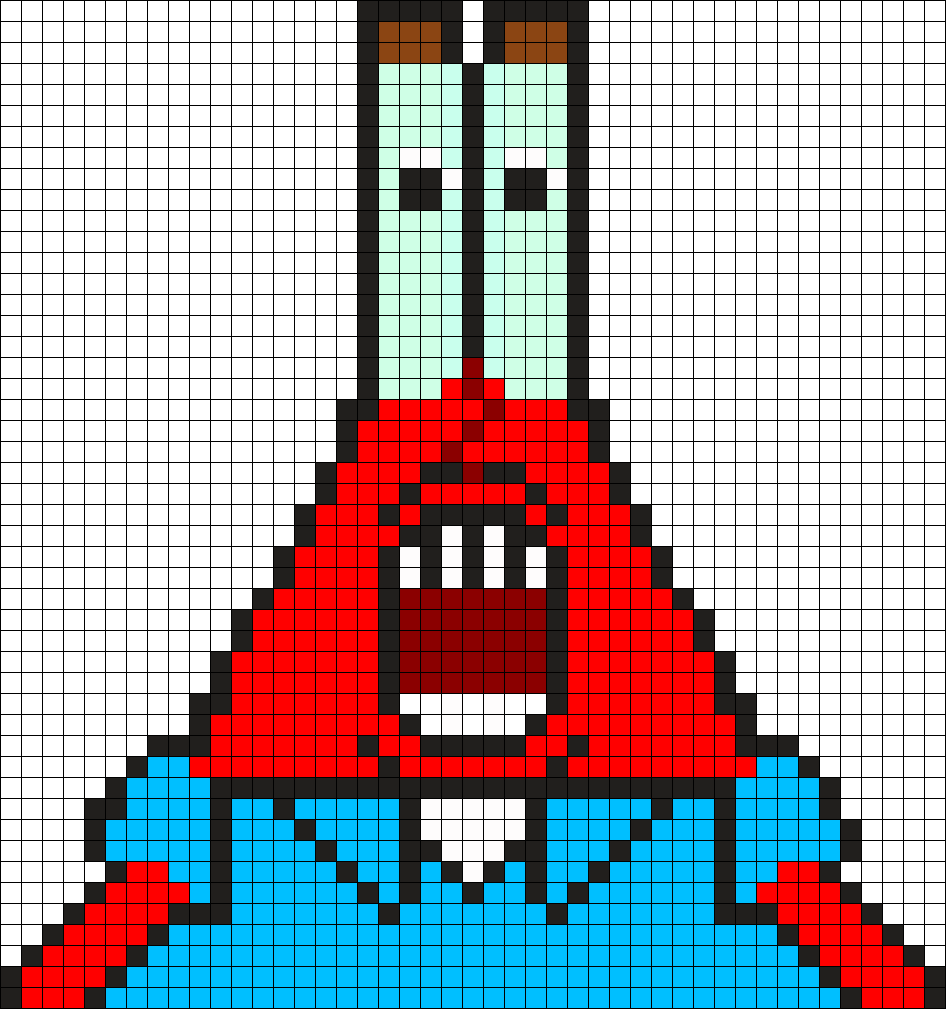 Mr Krabs Shocked Perler Bead Pattern / Bead Sprite