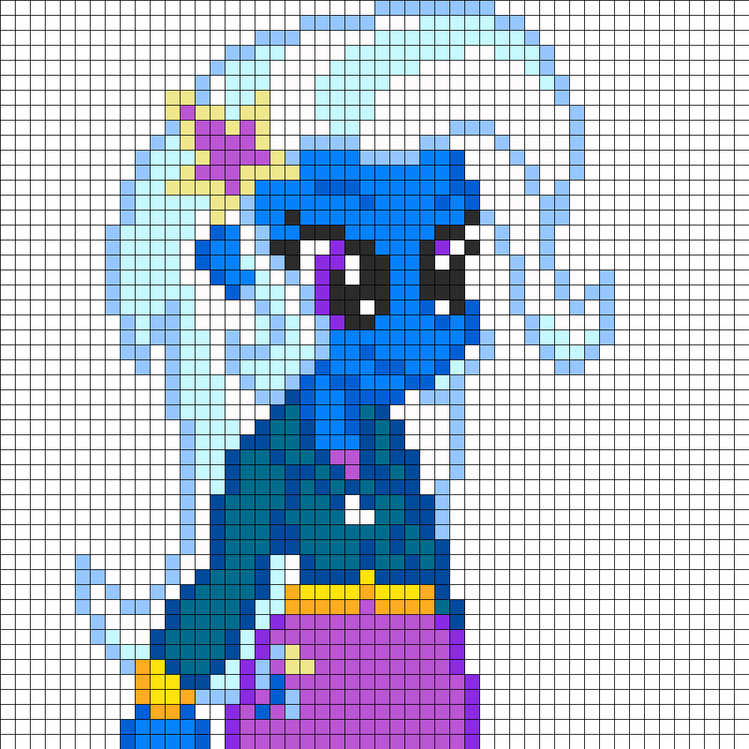 Equestria Girls Trixie Part1 Perler Bead Pattern / Bead Sprite