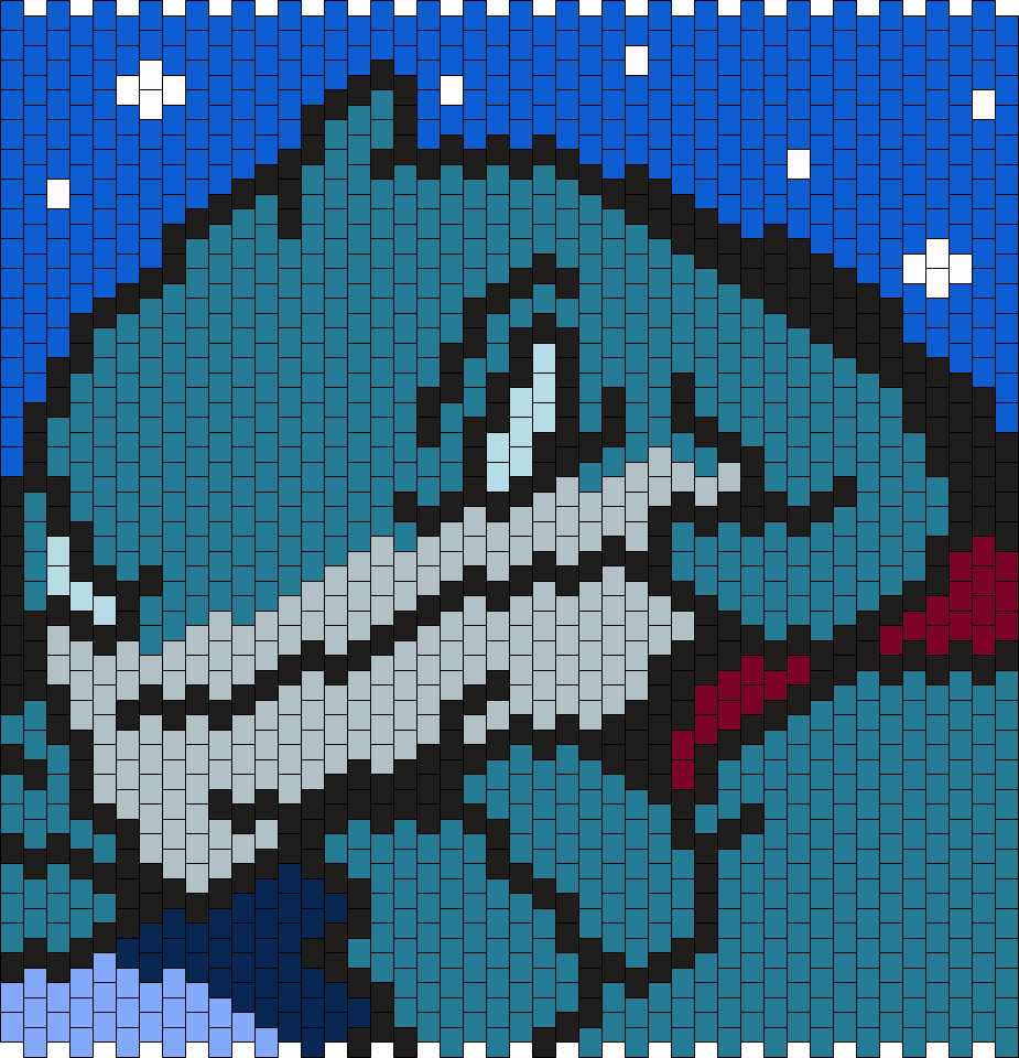 Captain Gantu From Lilo And Stitch (mlti) Bead Pattern