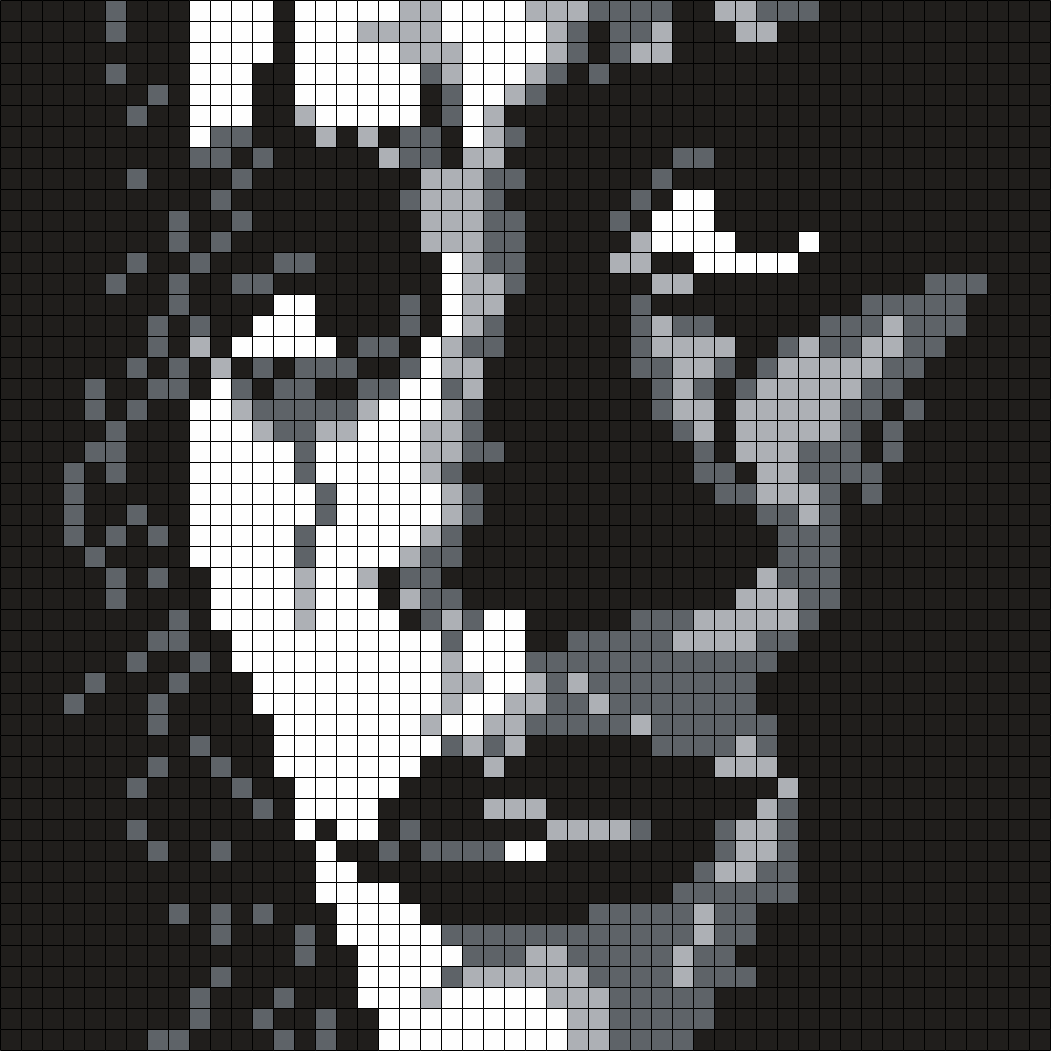 Brandon Lee As The Crow ( Sq.) Perler Bead Pattern / Bead Sprite