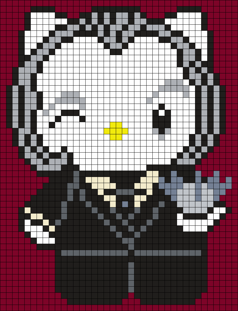 The Tall Man From Phantasm Hello Kitty (sq) Perler Bead Pattern / Bead Sprite