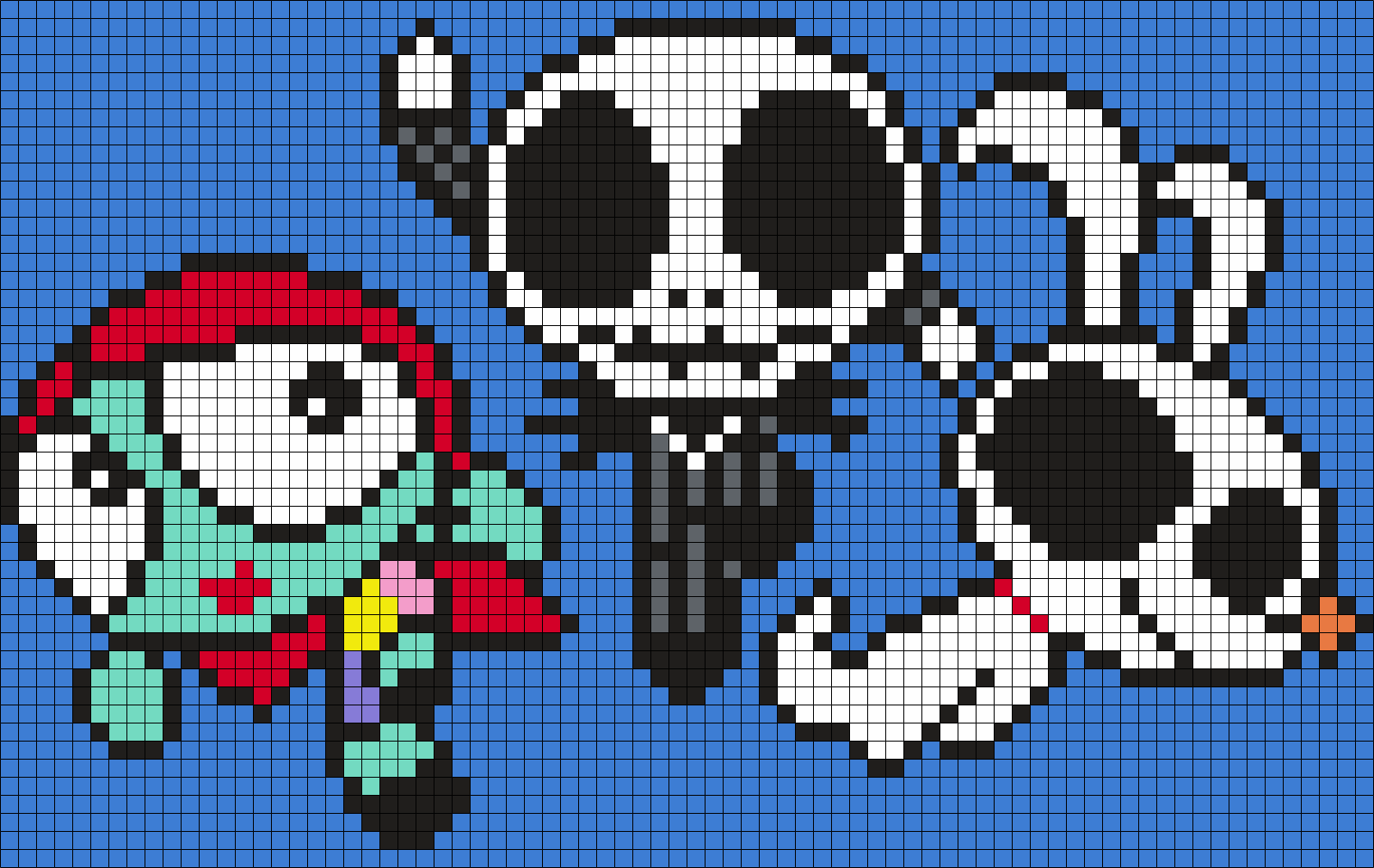 The Powerpuff Girls As Sally, Jack And Zero From The Nightmare Before Christmas (sq)