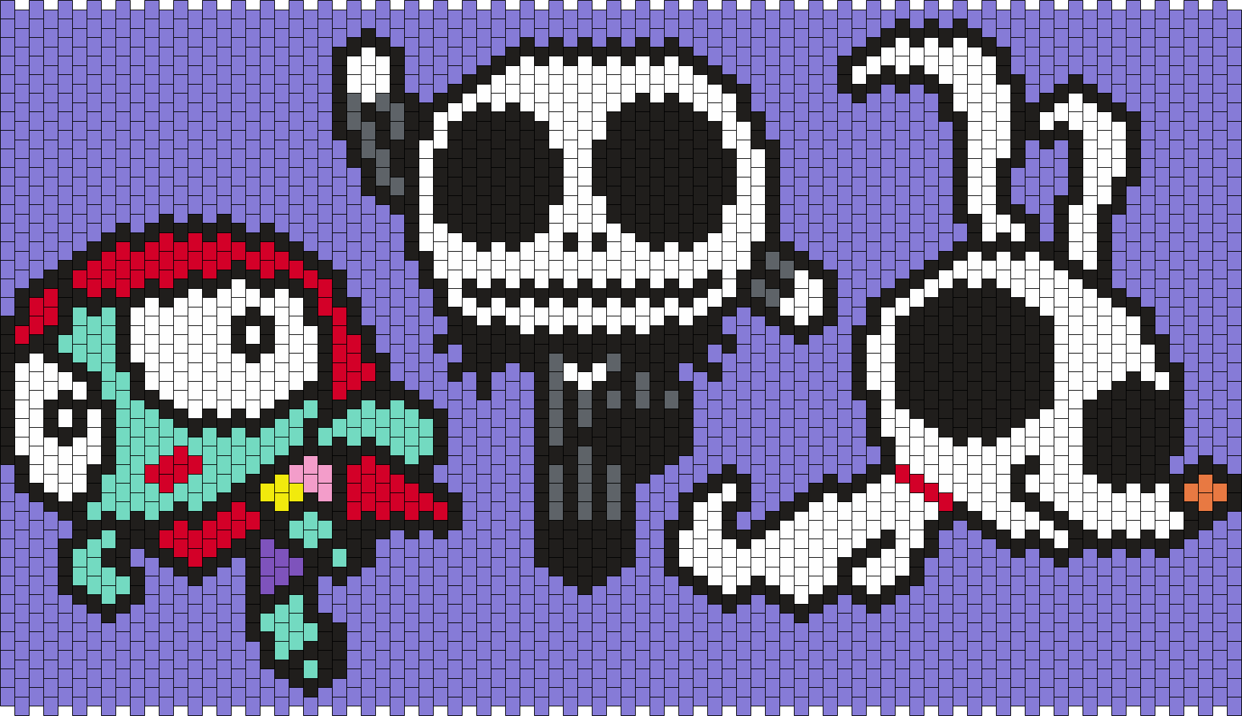 The Powerpuff Girls As Nightmare Before  Christmas Sally Jack And Zero Bead Pattern