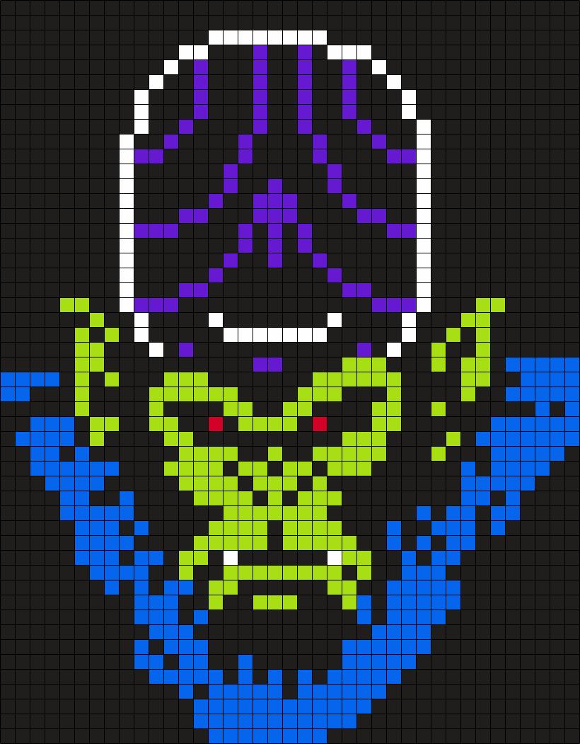 Mojo Jojo From The Powerpuff Girls Perler Bead Pattern / Bead Sprite