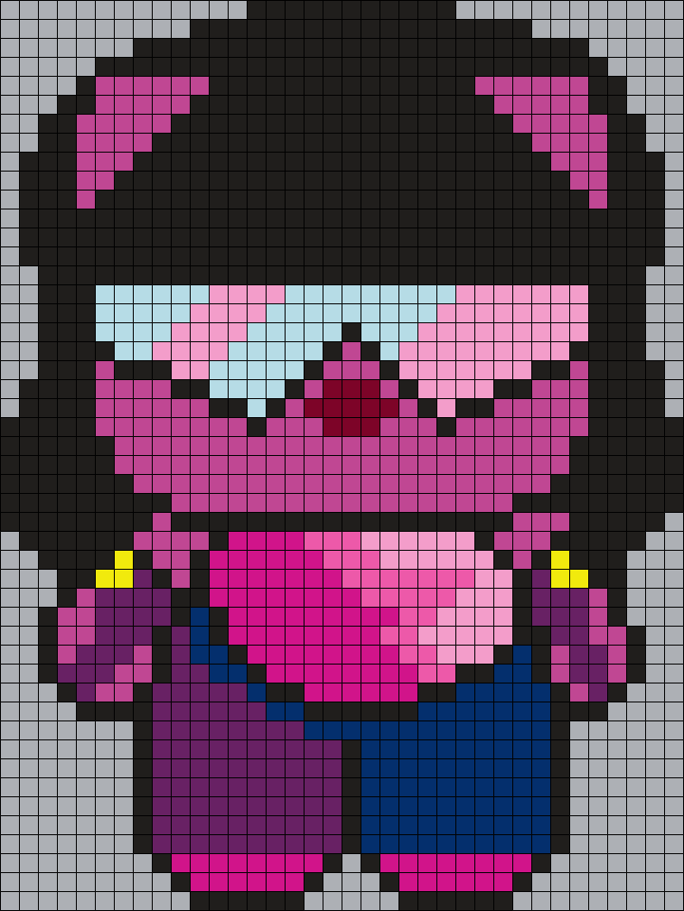 Garnet From Steven Universe Hello Kitty Sq